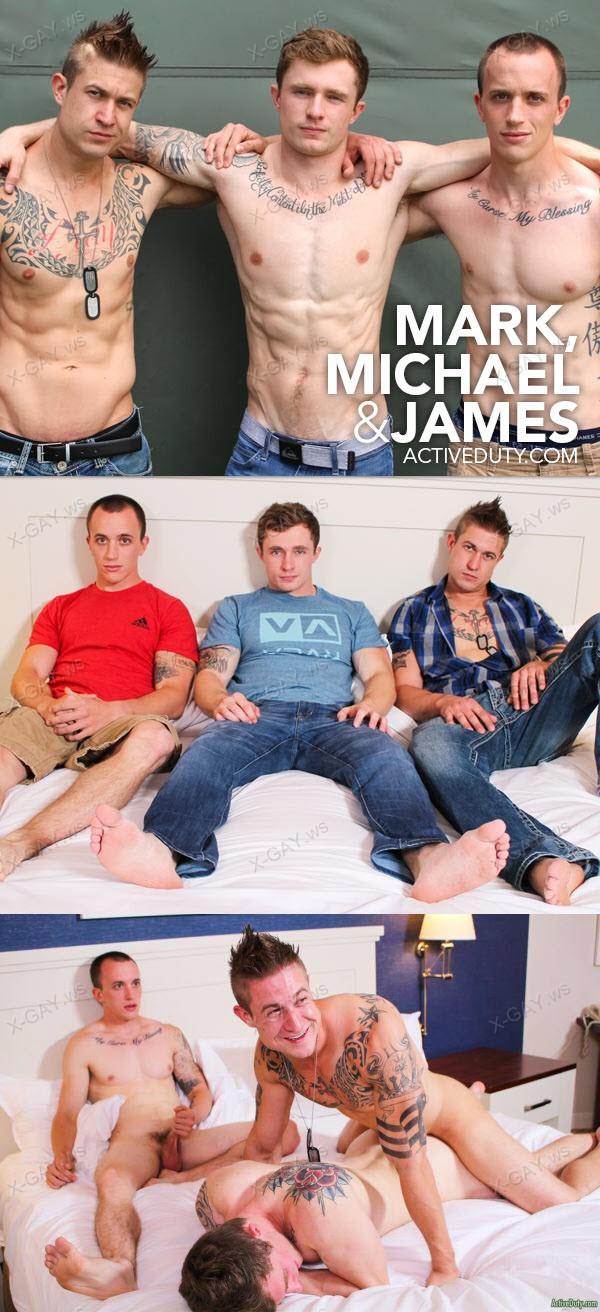 ActiveDuty: Markie, Michael, James (Bareback)