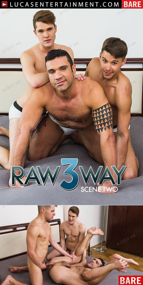LucasEntertainment: Letterio Amadeo Takes Turns On Dmitry Osten And Tristan Archer (Bareback)