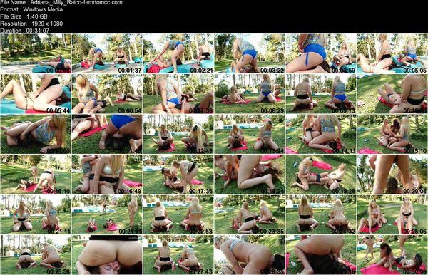 Adriana, Milly, Raicca Amorim, Vicky Andrade (Facesitting Sisters Double Slaves)