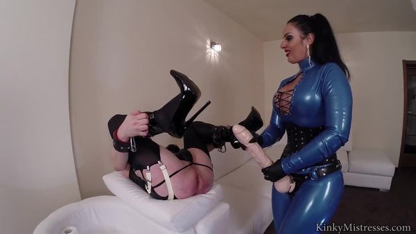 KinkyMistresses - Mistress Ezada - Your Rubber Strap-on Mistress complete