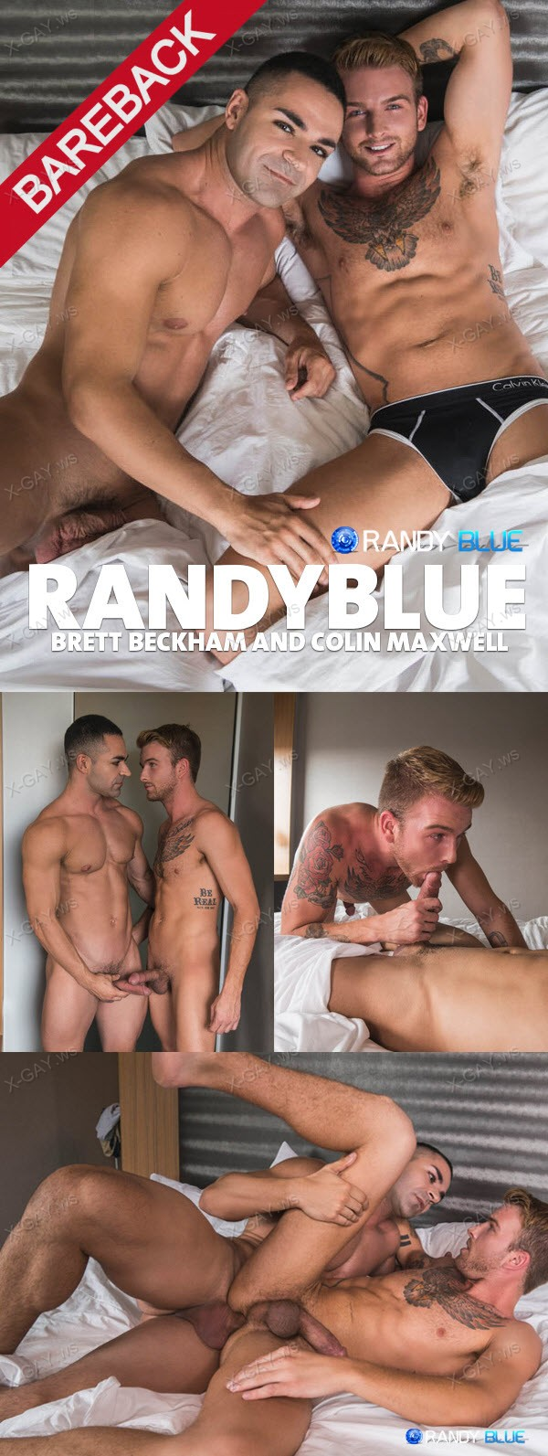 RandyBlue: Brett Beckham Wakes Up Colin Maxwell With A Bareback Fuck