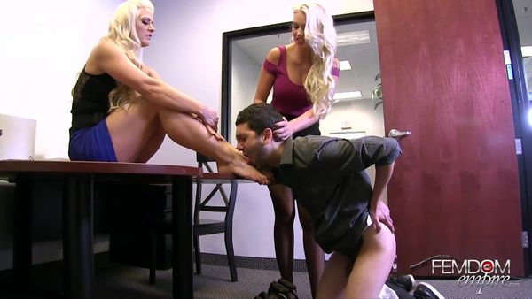 FemdomEmpire - Gigi Allens, Holly Heart - Dehumanized Office Bitch
