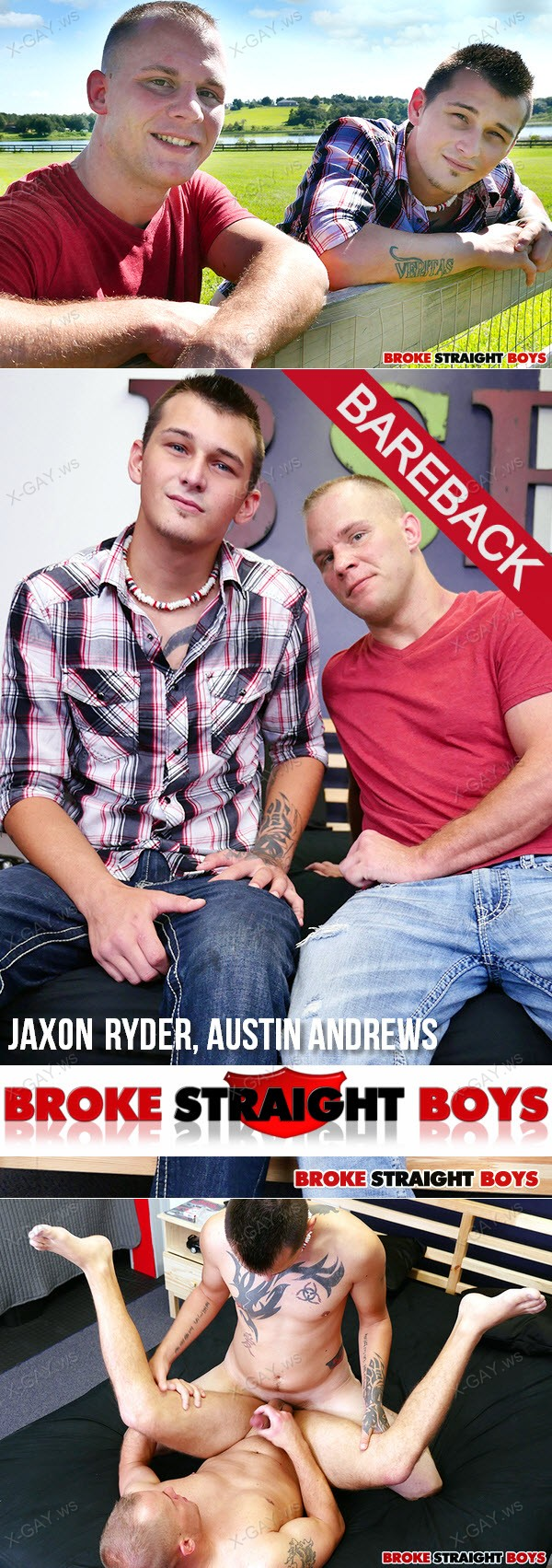 BrokeStraightBoys: Jaxon Ryder Fucks Austin Andrews Bareback