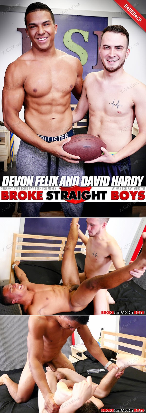 BrokeStraightBoys: Devon Felix, David Hardy (RAW, Flip Fuck)
