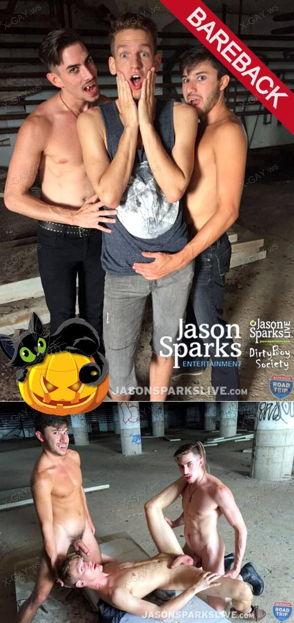 ClubJasonSparks: Halloween Vampires 2015 (Jack Hunter, Scott DeMarco, Zack Grayson) (Bareback)