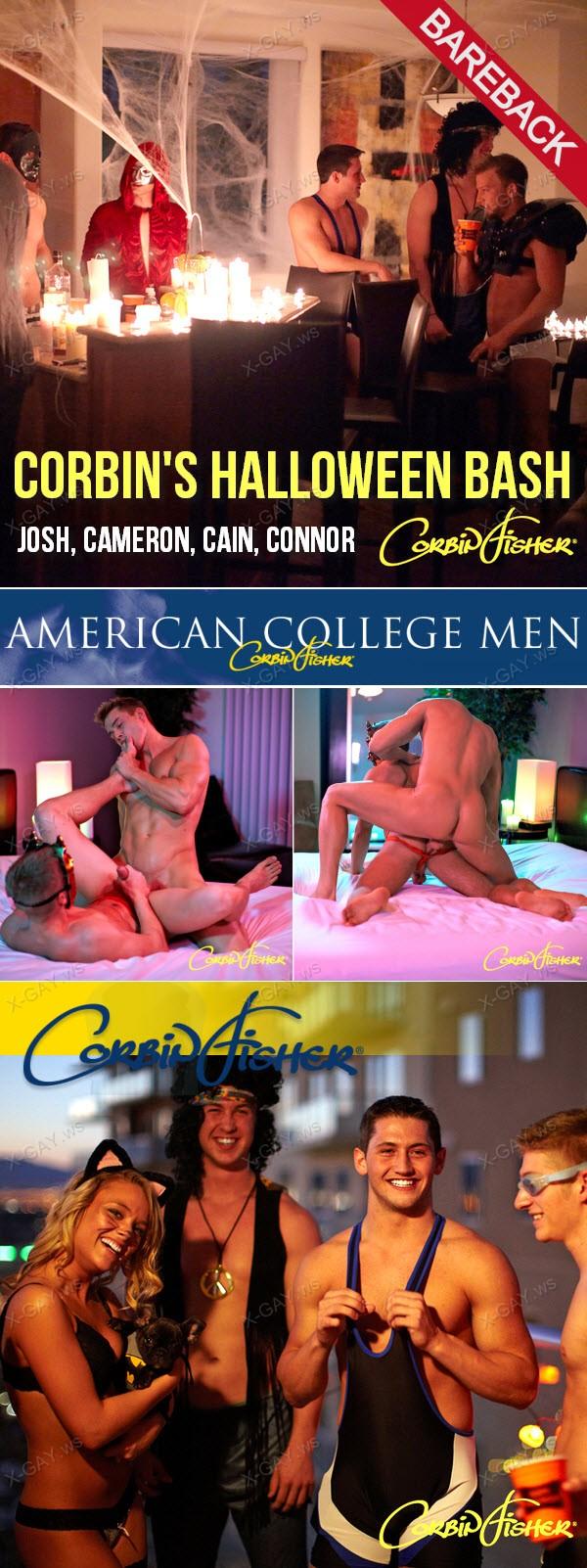 CorbinFisher: Corbin's Halloween Bash (Josh, Cameron, Cain, Connor) (Bareback)