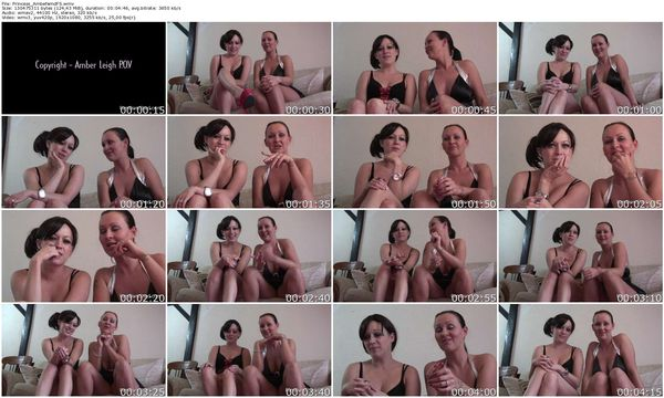 FemdomShed - Princess Amber, Princess Cherry - We both know why your here. you spend your nights wanking over us because your girlfriend is such an ugly bitch. Your such a sad bastard