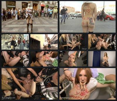 Public Disgrace - Oct 30, 2015 - Mona Wales, Xavi Tralla and Brenda Boop