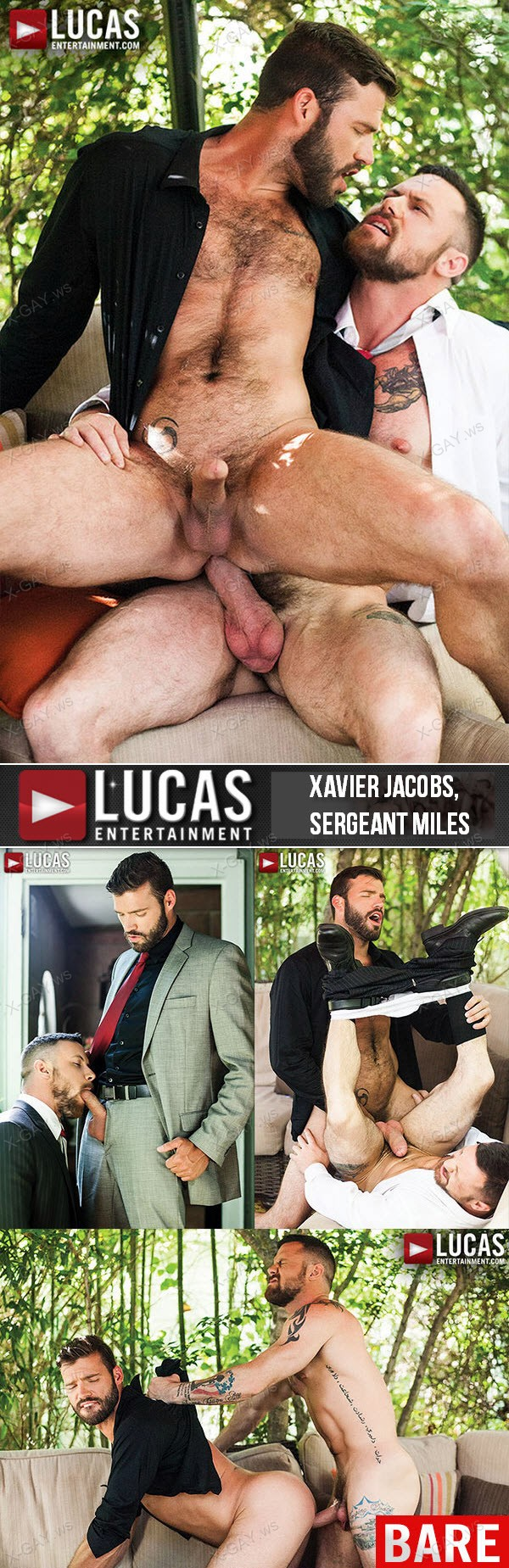 LucasEntertainment: Gentlemen 15: Suited For Sex (Xavier Jacobs, Sergeant Miles) (Bareback)