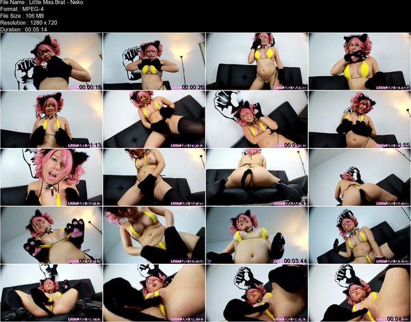 Little Miss Brat - Slut Neko Girl Tease
