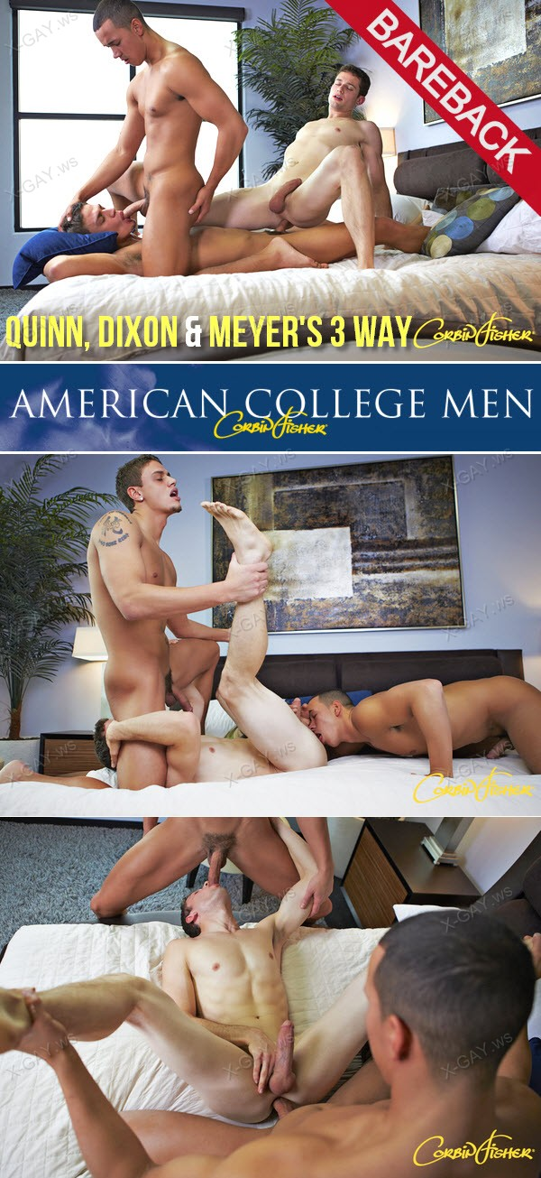 CorbinFisher: Quinn, Dixon and Meyer's 3 Way (Bareback)