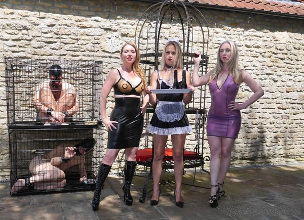 TheEnglishMansion - Mistress Sidonia, Mistress T and Sub Suzie - A Tale of Two Slaves complete