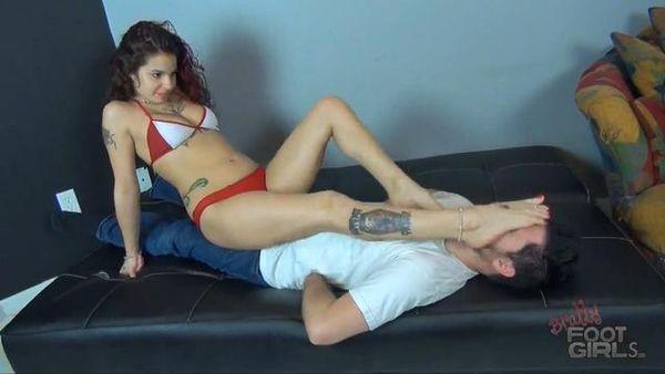 BrattyFootGirls - Goddess GInary - Lick and Gag On Ginary's Sweaty Feet