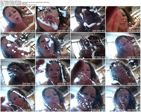 FemdomShed - Princess Tammy - Lets play a game, I'll spit in your mouth and you guess what I had for dinner