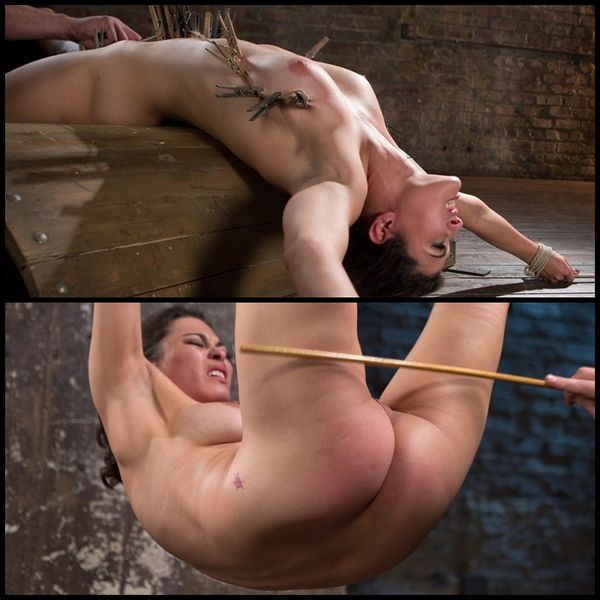 (10.12.2015) Hot, All Natural Brunette in Extreme Bondage and Tormented