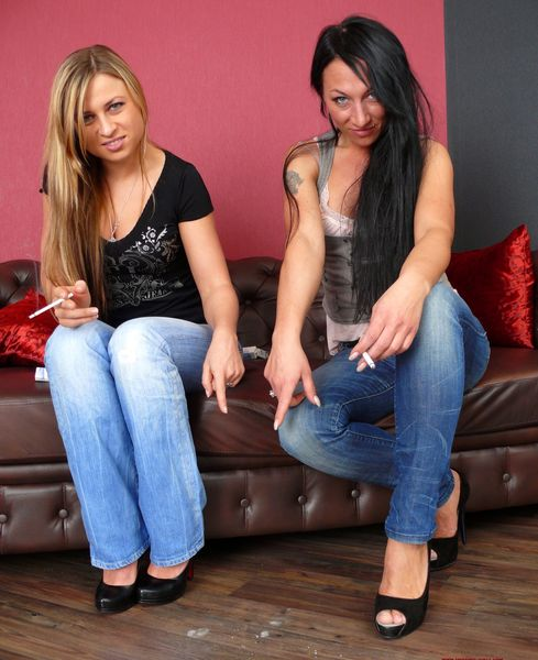 Spitting-Girls - Katja, Ljuba - Spat on, Laughed at and spat into the mouth
