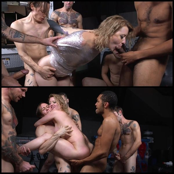 (16.12.2015) Recent divorcee gets double stuffed by and entire moving crew cock