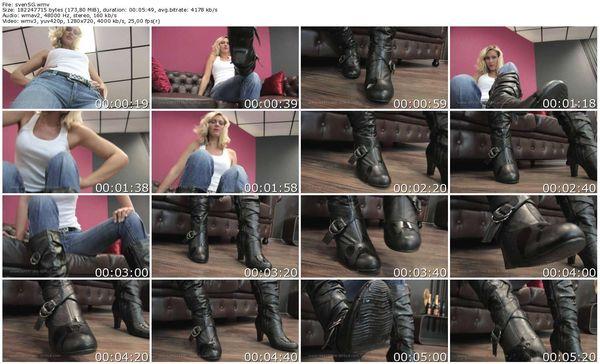 Spitting-Girls - Tall Svenja - Svenja's spit slave