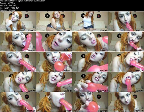 Mistress Bijoux - Girlfriend's BJ instruction