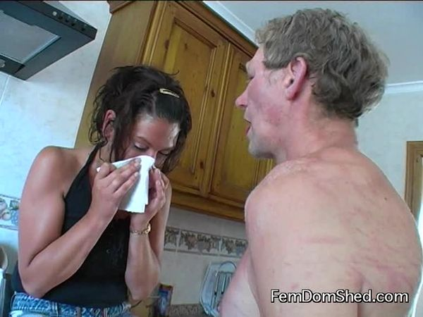 FemdomShed - Bratty Princess - Eat the snot off my fingers and tissues