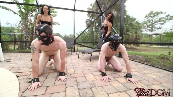 ClubDom - Kylie Rogue, Michelle Lacy - Fucking with StrapOn Two Slave in Ass
