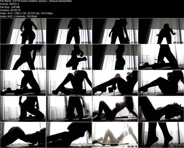 Divine Goddess Jessica - Sensual Silhouette Tease