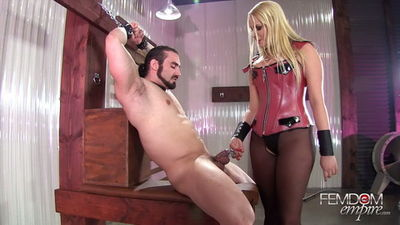 Femdom Empire - Vanessa Cage - Steel Caged Cock Teasing
