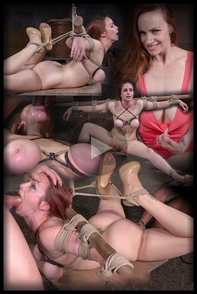 (21.03.2016) Busty Bella Rossi BaRS show with epic BBC deepthroat, tited tits and strict challenging bondage