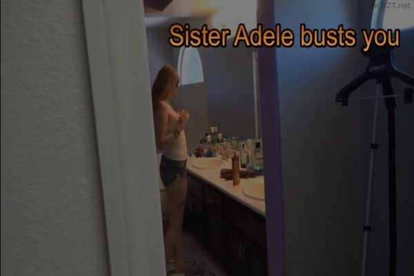 Perverted sister watches you jerk off