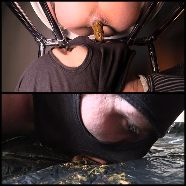 Mistress Jenny takes a dump in her slave's mouth