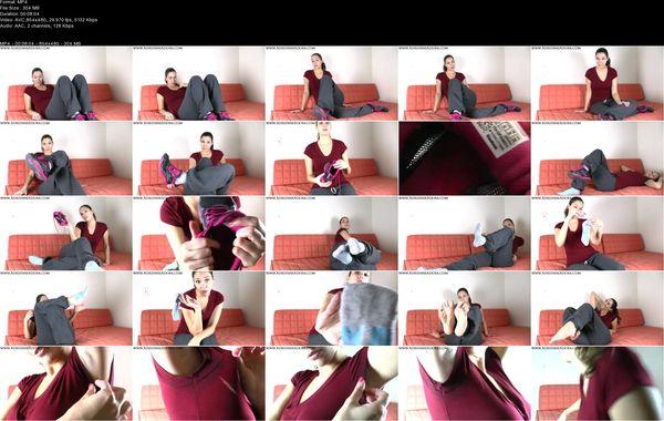 Adrienne Adora - Sweaty Feet And Pits Humiliation