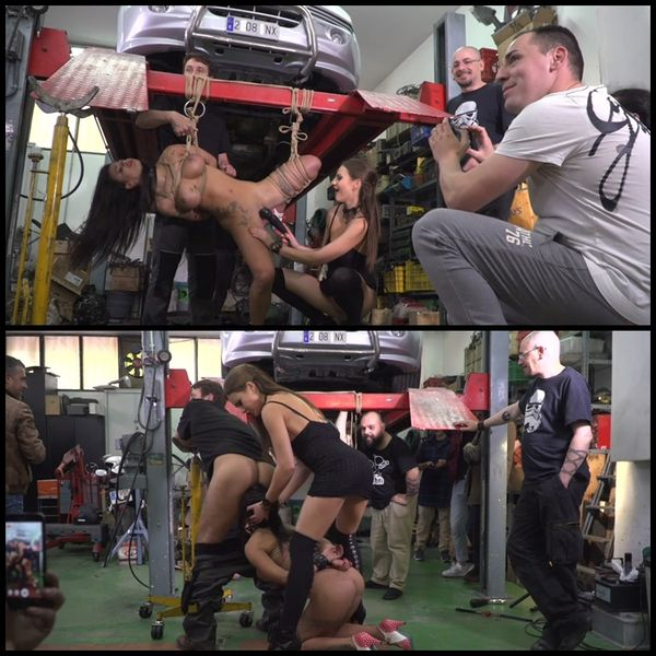 (15.07.2016) Fuck Doll Gets Serviced at Filthy Auto Shop