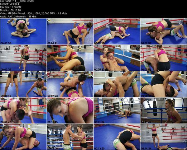 Mixed Wrestling Zone - Orsolya - Orsolya vs Imi (It's Fun Beating Up Boys!)