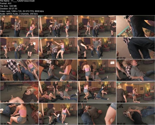 Violent Chicks - Mistress Tessa, Mistress Tyler Aria - Double Ballbusting