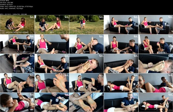 Czech Soles - Eliska - Hurt ankle and her smelly feet