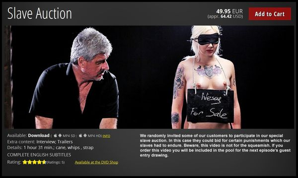 (13.10.2016) Slave Auction
