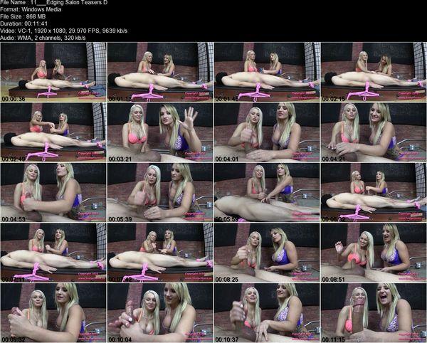 Brat Princess - Cali, Kenzie – Edging Salon Teasers Demonstrate Ruined Orgasm Techniques (1080 HD)