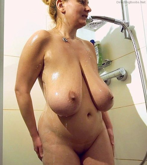 large breasted women nude in shower