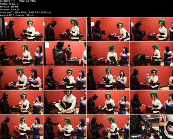 Aliceinbondageland - BONUS VIDEO - Casting Couch Rubber Interview Denali and ModeNarr
