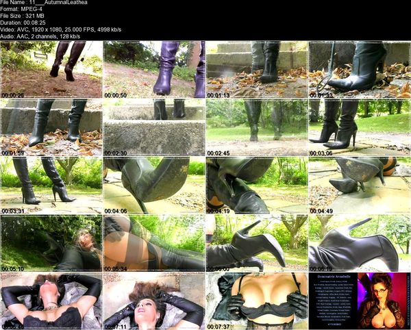 Dominatrix Annabelle – Autumnal Leather Boot Erotica!