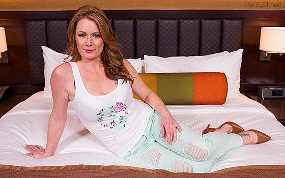 girl in cream yoga pants