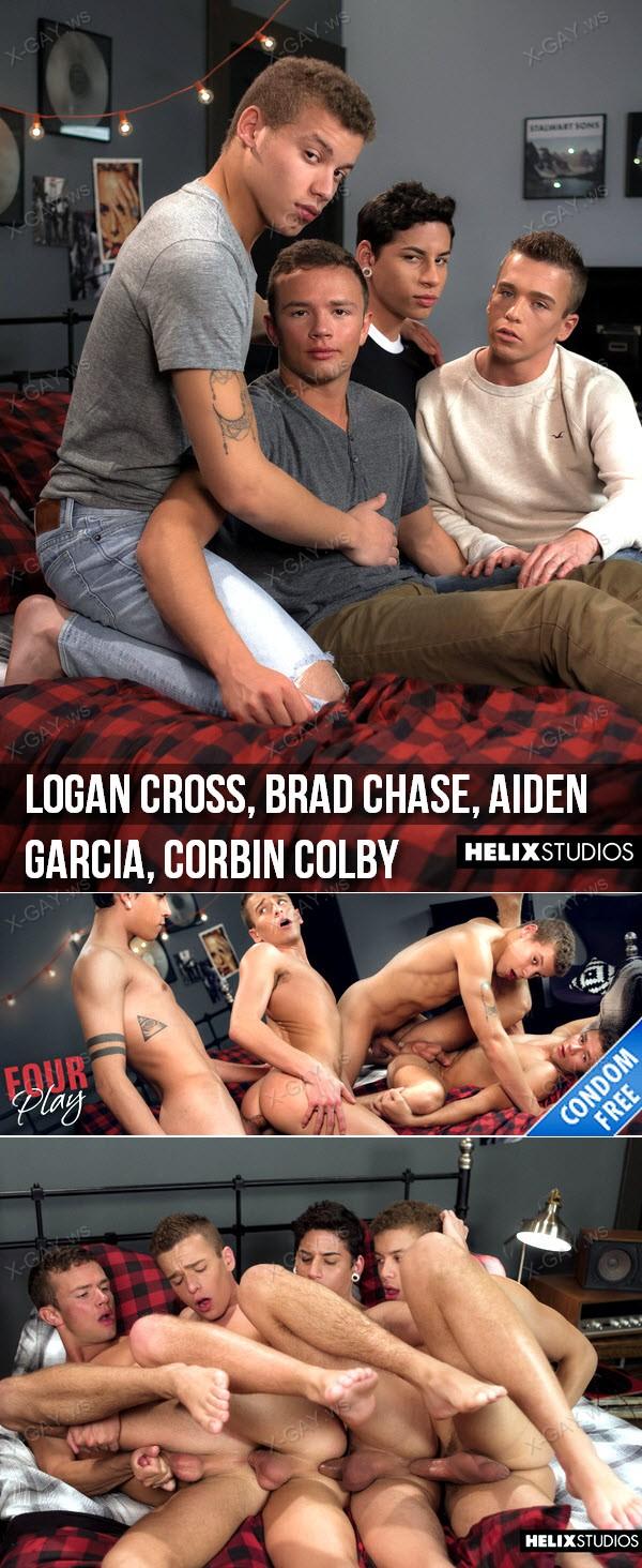 HelixStudios: Four Play (Logan Cross, Brad Chase, Aiden Garcia, Corbin Colby) (Bareback)