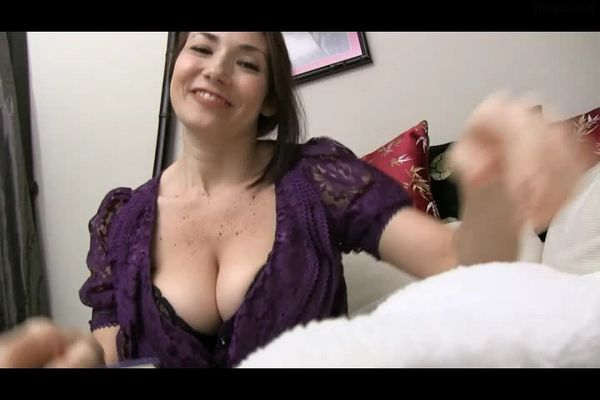 Will You Eat Your Own Cum to Please Your Big-Breasted Auntie?