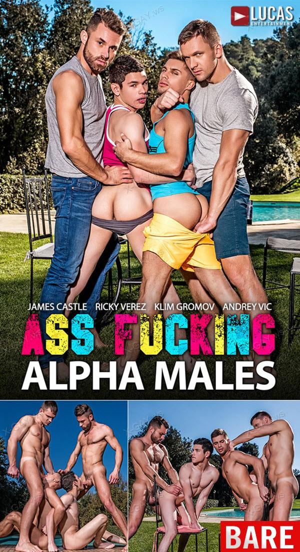 LucasEntertainment: Ass-Fucking Alpha Males (Klim Gromov, Ricky Verez, James Castle, Andrey Vic) (Bareback)