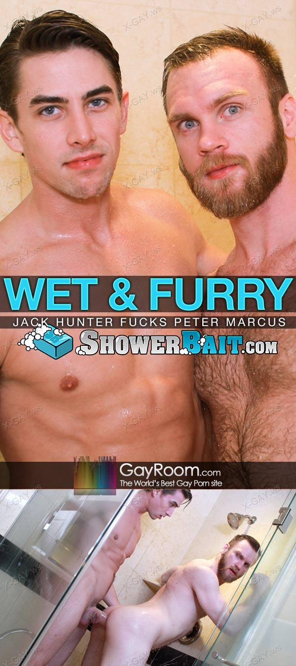 GayRoom (Shower Bait): Wet and Furry (Peter Marcus, Jack Hunter)
