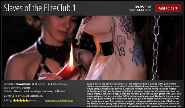 SLAVES OF THE ELITECLUB 1   HD 720p   Release Date: May 19, 2017