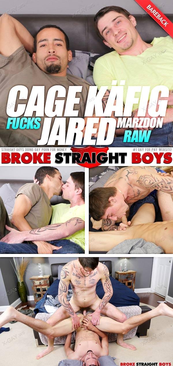 BrokeStraightBoys: Cage Kafig, Jared Marzdon (Bareback)