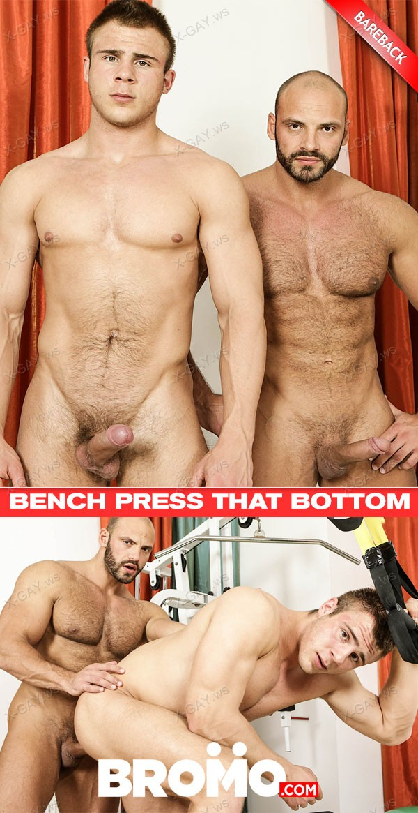 Bromo: Brench Press That Bottom (Peter, Tomm Black) (Bareback)
