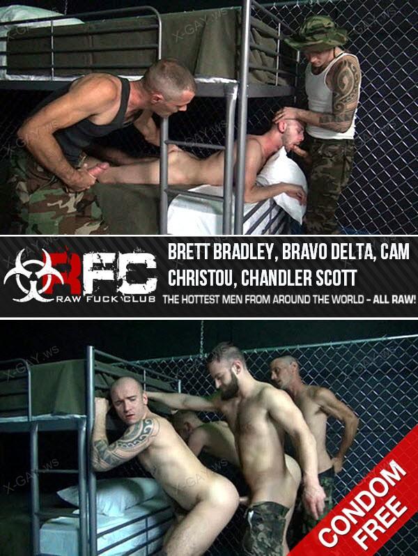RawFuckClub: Take Him Down And Fuck Him Up (Brett Bradley, Bravo Delta, Cam Christou, Chandler Scott) (Bareback)