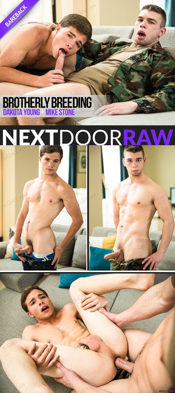 NextDoorRaw: Brotherly Breeding (Dakota Young, Mike Stone) (Bareback)